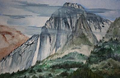 Painting - Yosemite Falls by Julie Lueders