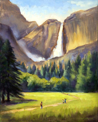 Yosemite National Park Painting - Yosemite Falls by Karin  Leonard