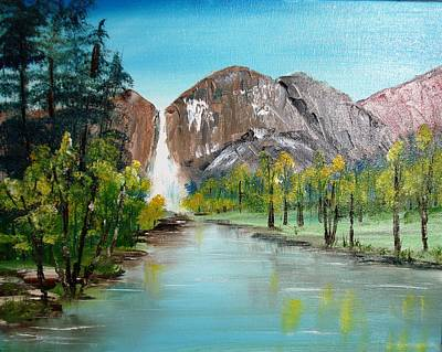 Yosemite Falls Art Print by Larry Hamilton