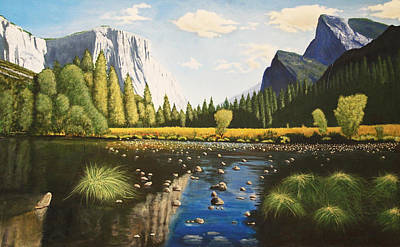 Painting - El Capitan, Yosemite by Lawrence Holofcener