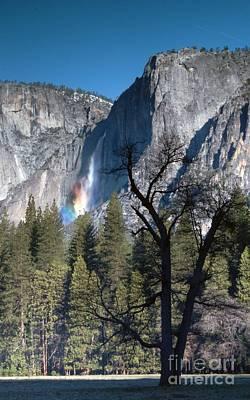 Yosemite Falls Rainbow 3 Art Print by Richard Verkuyl