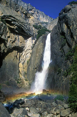 Photograph - Yosemite Falls Rainbow by John Burk