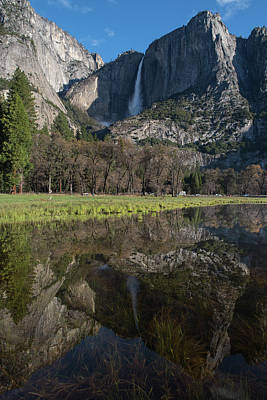 Photograph - Yosemite Falls Reflection by Ken Dietz