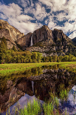 Photograph - Yosemite Falls Reflections by Andrew Soundarajan