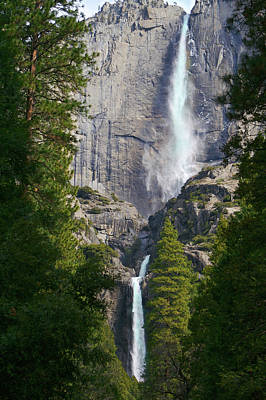 Photograph - Yosemite Falls by SC Heffner