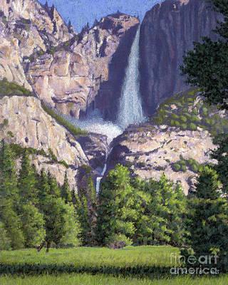 Pastel - Yosemite Falls by Stephen Shub