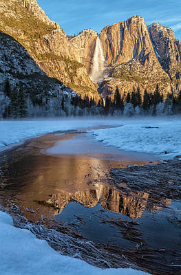 Photograph - Yosemite Falls - Vertical by Jonathan Nguyen