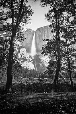 Gray Photograph - Yosemite Falls by Visions of History