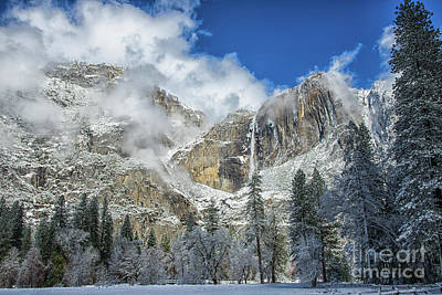 Photograph - Yosemite Falls Winter Beauty Yosemite National Park by Wayne Moran