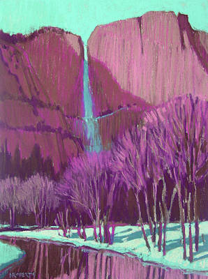 Painting - Yosemite Falls, Winter by Nancy Roberts