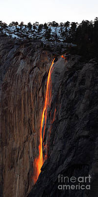 Photograph - Yosemite Fire Falls - 2016 by Benedict Heekwan Yang