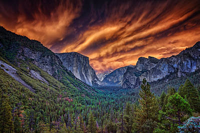 Yosemite Fire Art Print by Rick Berk