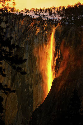 Photograph - Yosemite Firefall by Greg Norrell