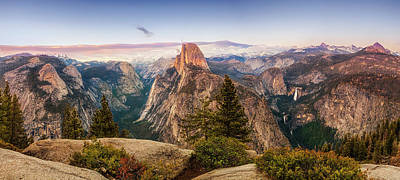 Photograph - Yosemite Glacier Point Panorama by Andrew Soundarajan