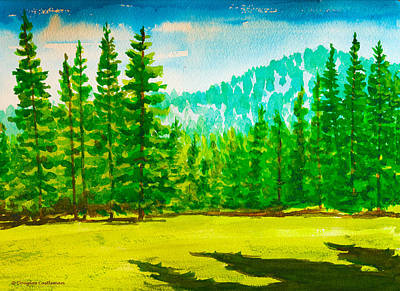 Painting - Yosemite Golf Course by Douglas Castleman