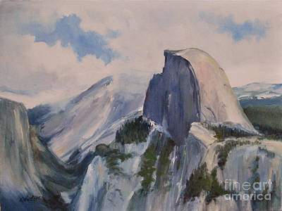 Yosemite Half Dome From Glacier Point Print by Karen Winters