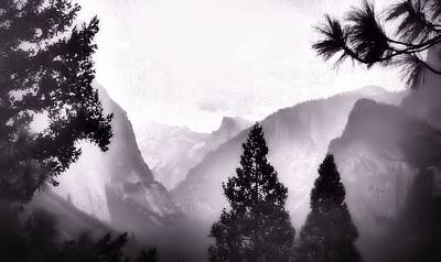 Photograph - Yosemite Half Dome Illusion by Nadalyn Larsen