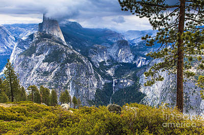 Photograph - Yosemite Half Dome In Clouds by Ben Graham