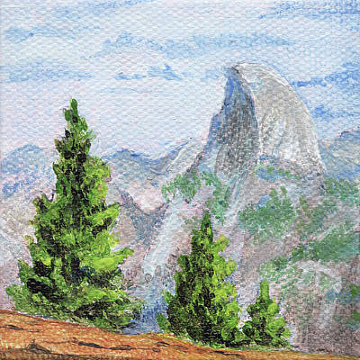 Painting - Yosemite. Half Dome by Masha Batkova