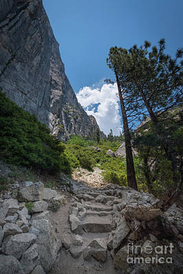 Photograph - Yosemite Hiking Trail  by Michael Ver Sprill