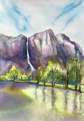 Painting - Yosemite by Hilda Vandergriff