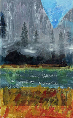 Painting - Yosemite Lifting Fog by Walter Fahmy
