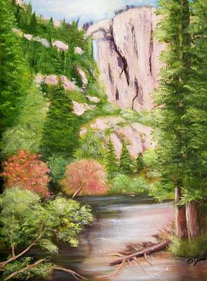 Painting - Yosemite-merced River by Joni McPherson