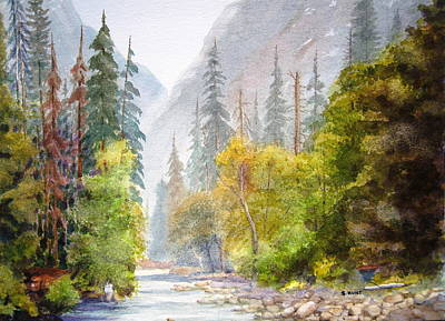 Yosemite National Park Painting - Yosemite Mist by Shirley Braithwaite Hunt
