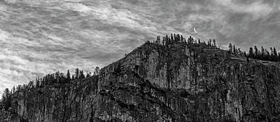 Photograph - Yosemite Moon - Black And White by Loree Johnson