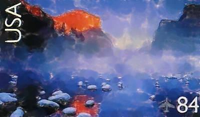 El Capitan Painting - Yosemite National Park California by Lanjee Chee