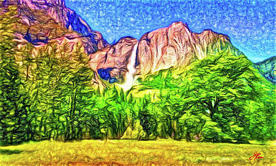 Signed By Artist Painting - Yosemite National Park by Joan Reese