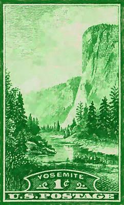 El Capitan Painting - Yosemite National Park by Lanjee Chee