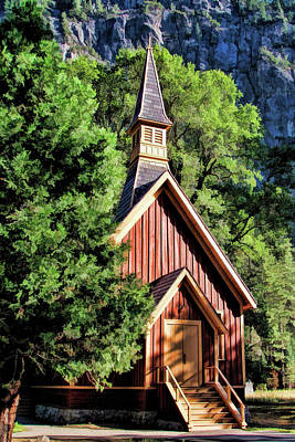 Painting - Yosemite National Park Valley Chapel by Christopher Arndt