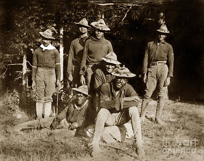 Photograph - Yosemite National Parks Buffalo Soldiers Circa 1899 by California Views Mr Pat Hathaway Archives
