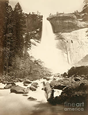 Photograph - Yosemite, Nevada Fall.  by Granger