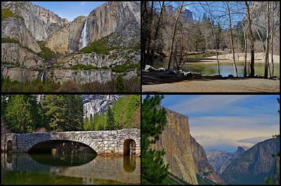 Triptych Photograph - Yosemite Panel 2x2  by SC Heffner
