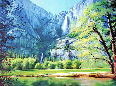 Yosemite National Park Painting - Yosemite Park by Conor McGuire