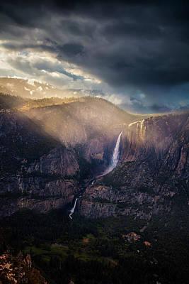 Photograph - Yosemite Rays by Andrew Soundarajan