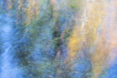 Abstract Moon Photograph - Yosemite Reflections 3 by Larry Marshall