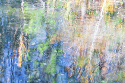 Sunset Abstract Photograph - Yosemite Reflections 4 by Larry Marshall