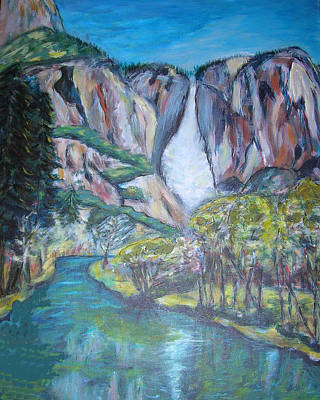 Painting - Yosemite Reflections by Carolyn Donnell