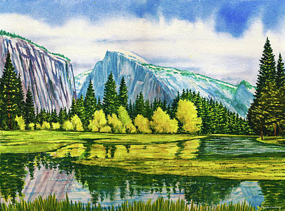 Painting - Yosemite Reflections by Douglas Castleman