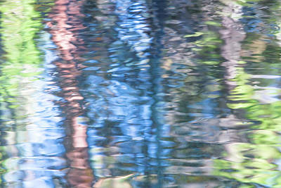 Abstract Moon Photograph - Yosemite Reflections by Larry Marshall
