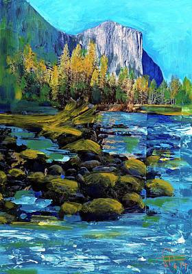 Painting - Yosemite Reflections No 1 by Walter Fahmy