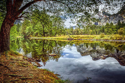 Photograph - Yosemite Reflections Panorama by LeeAnn McLaneGoetz McLaneGoetzStudioLLCcom