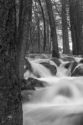 Photograph - Yosemite River Black And White 2 by John McGraw