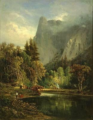 Yosemite Painting - Yosemite  Sentinel Rock by William Keith