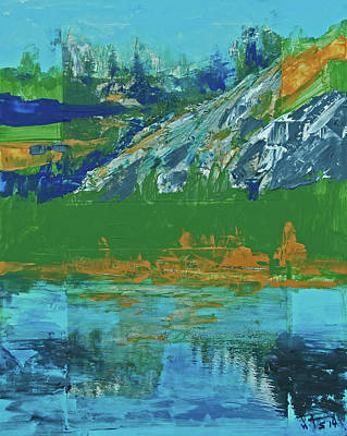 Painting - Yosemite Spring Reflections  by Walter Fahmy
