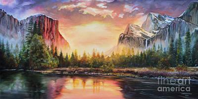 El Capitan Painting - Yosemite Sunrise by Susan McConnell Moreno