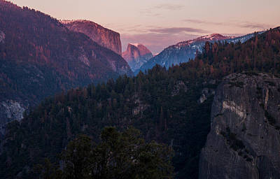 Half Dome Photograph - Yosemite Sunset by J Allen